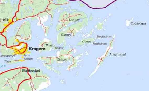 kart over kragerøskjærgården Kragerø kystperlene   startside kart over kragerøskjærgården
